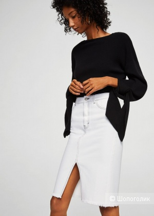 Джинсовая юбка-карандаш манго, размер S
