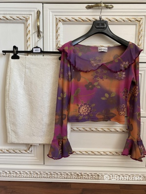 Сет из 2-х вещей: Юбка Zara + Блузка  Laura Casini S-XS