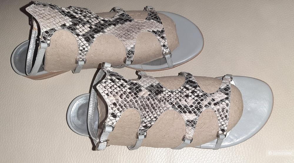 Stefanel босоножки-сандалии, серые , 39 р-р, 25 см