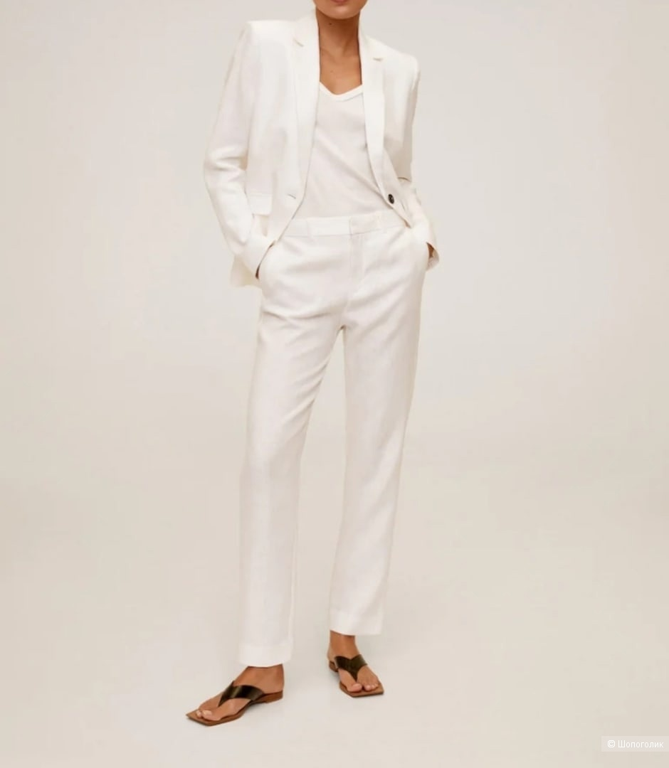 Льняные брюки Мango размер 42