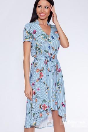 Платье Полоска/ цвет голубой