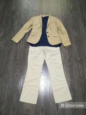 Сет J Crew, Banana Republic. TOM TAILOR брюки, пиджак, топ р. 42-44