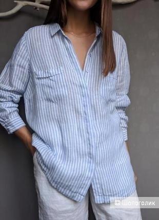 Льняная рубашка marks&spencer, размер m