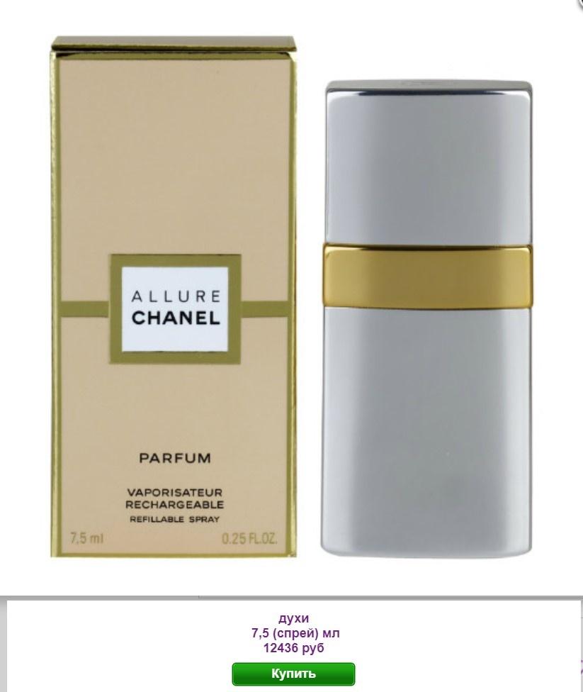 Духи ALLURE Chanel  (Шанель Аллюр) 7,5 мл