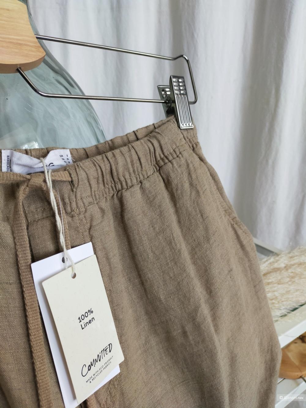 Льняные брюки Мango размер S