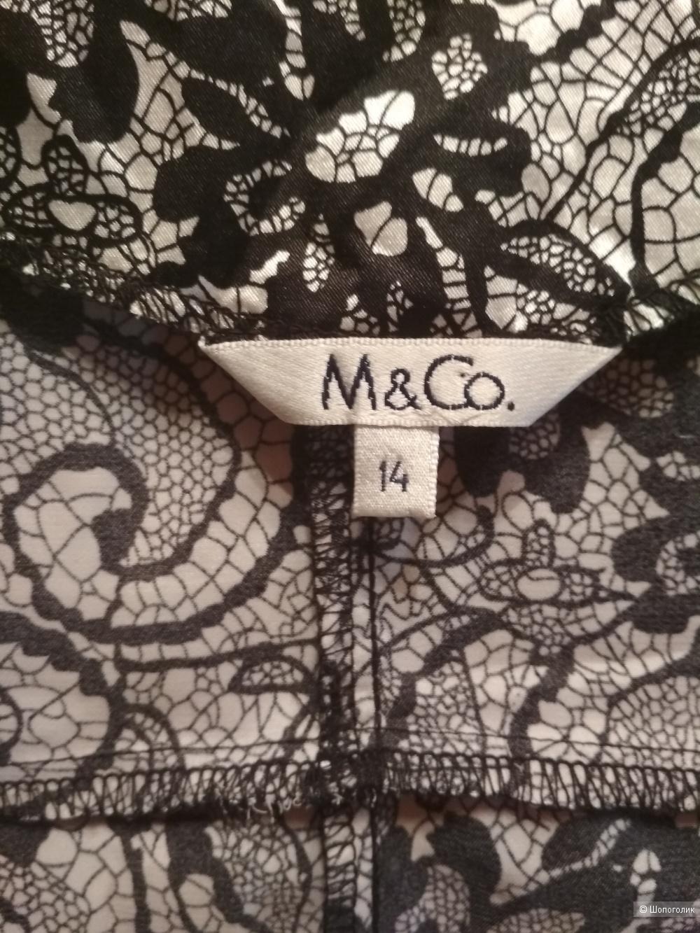 Блузка-топ M&Co  UK 14  на наш 46-50