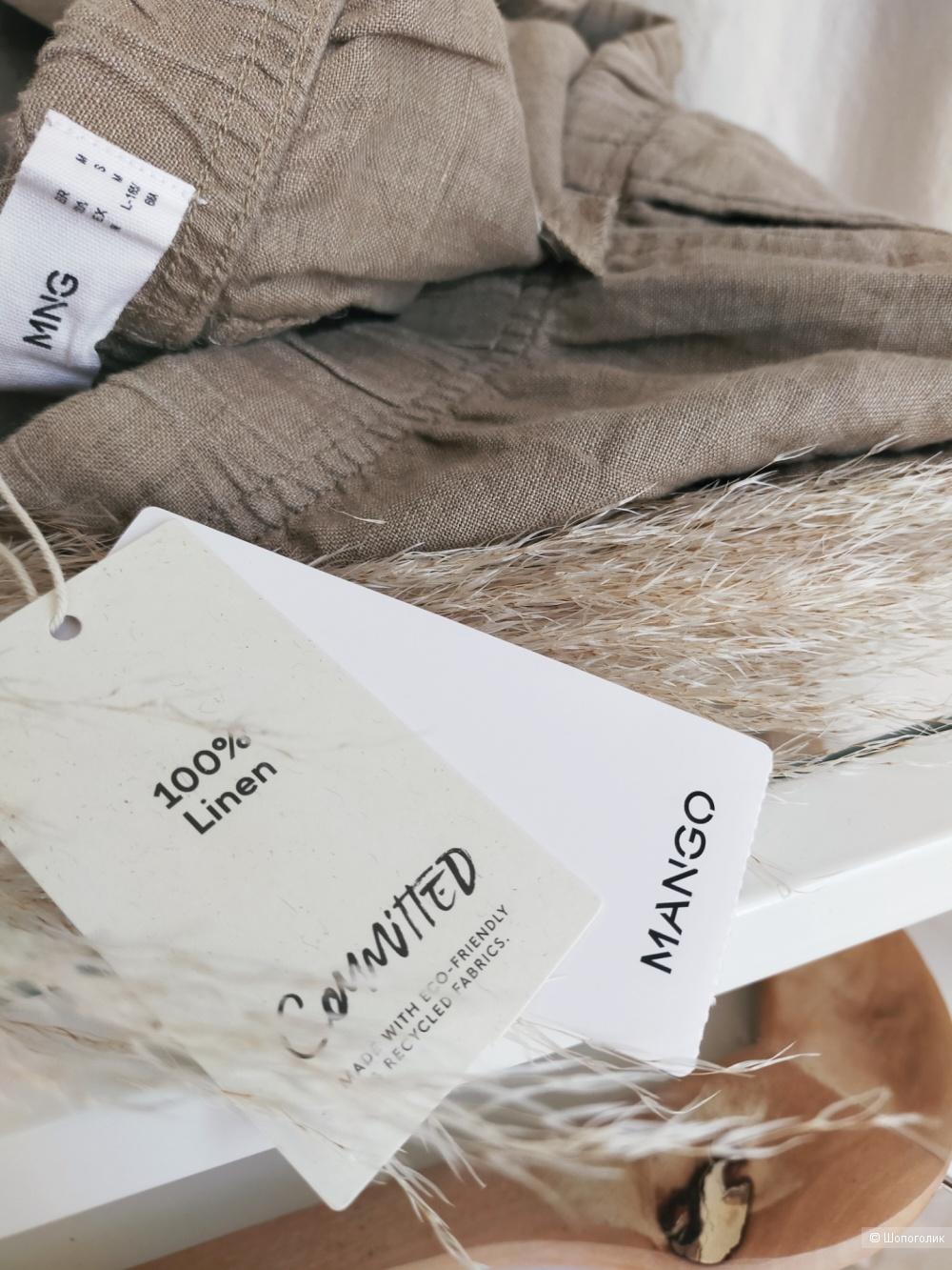 Льняные брюки Мango размер M