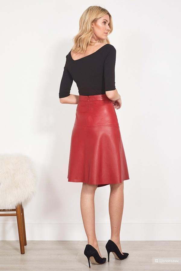 Кожаная юбка sosandar, размер 46