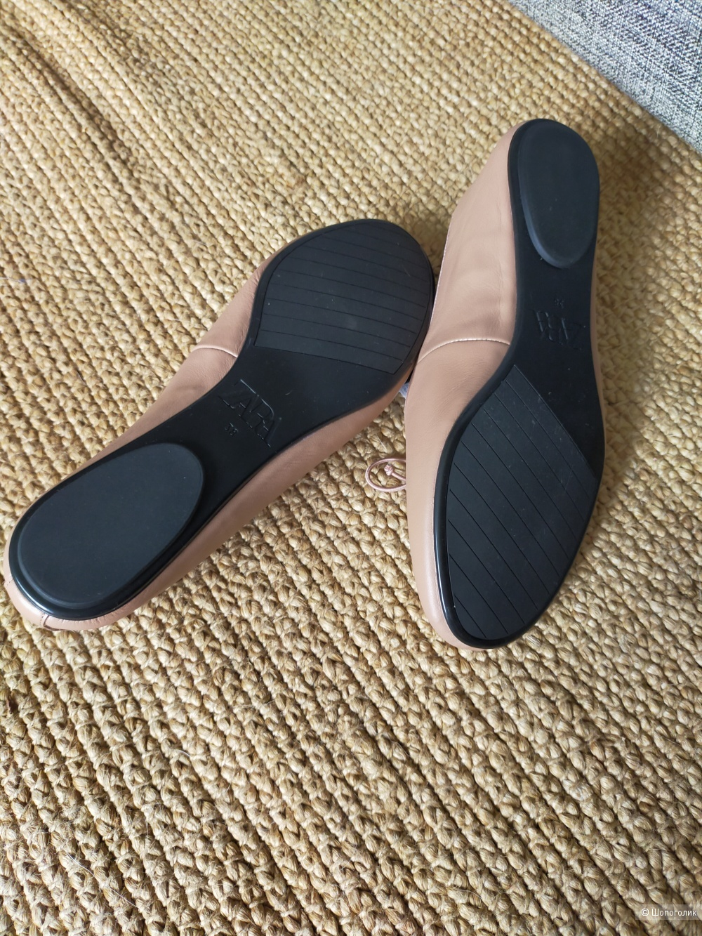 Кожаные балетки Zara размер 38