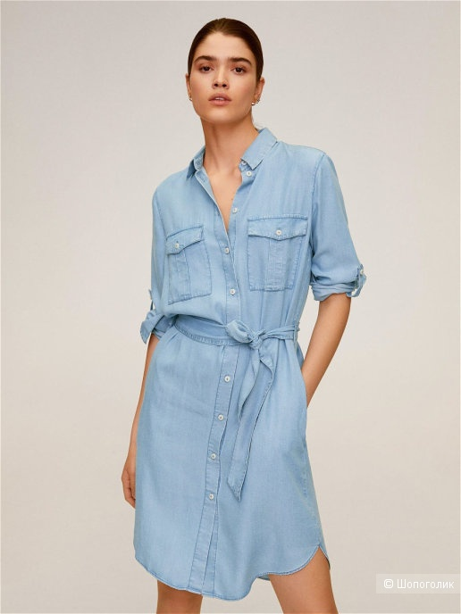 Платье- рубашка COMMITTED mango, размер S/М