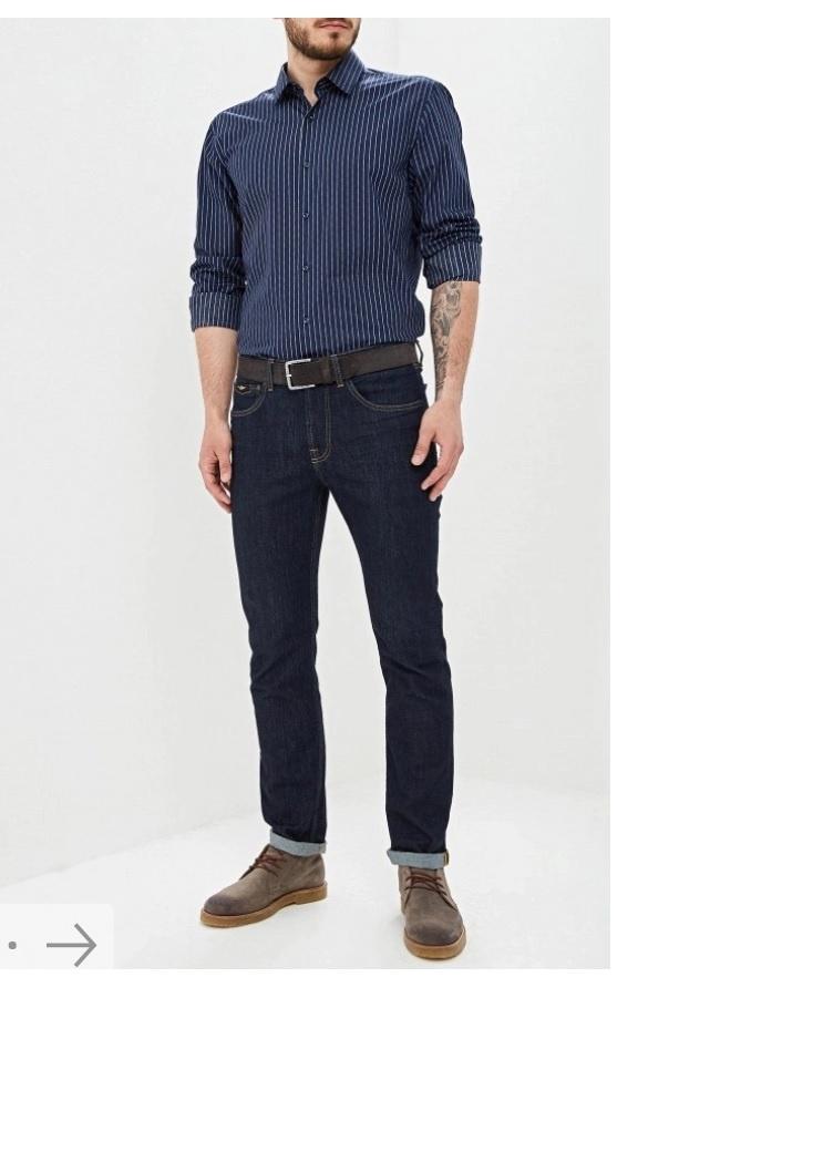 Мужская рубашка бренда Boss размер 40