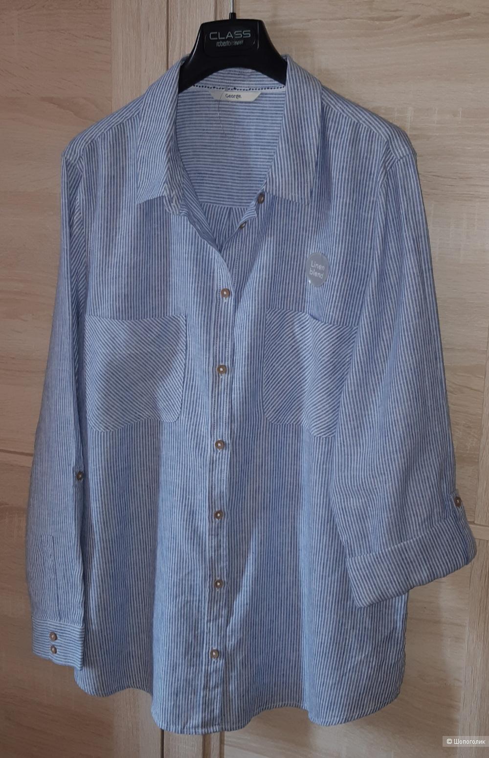 Льняная рубашка george, размер l/xl