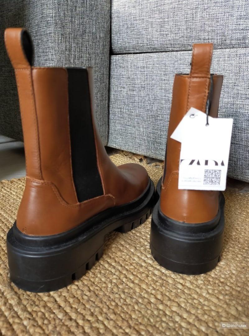 Кожаные ботильоны Zara размер 41