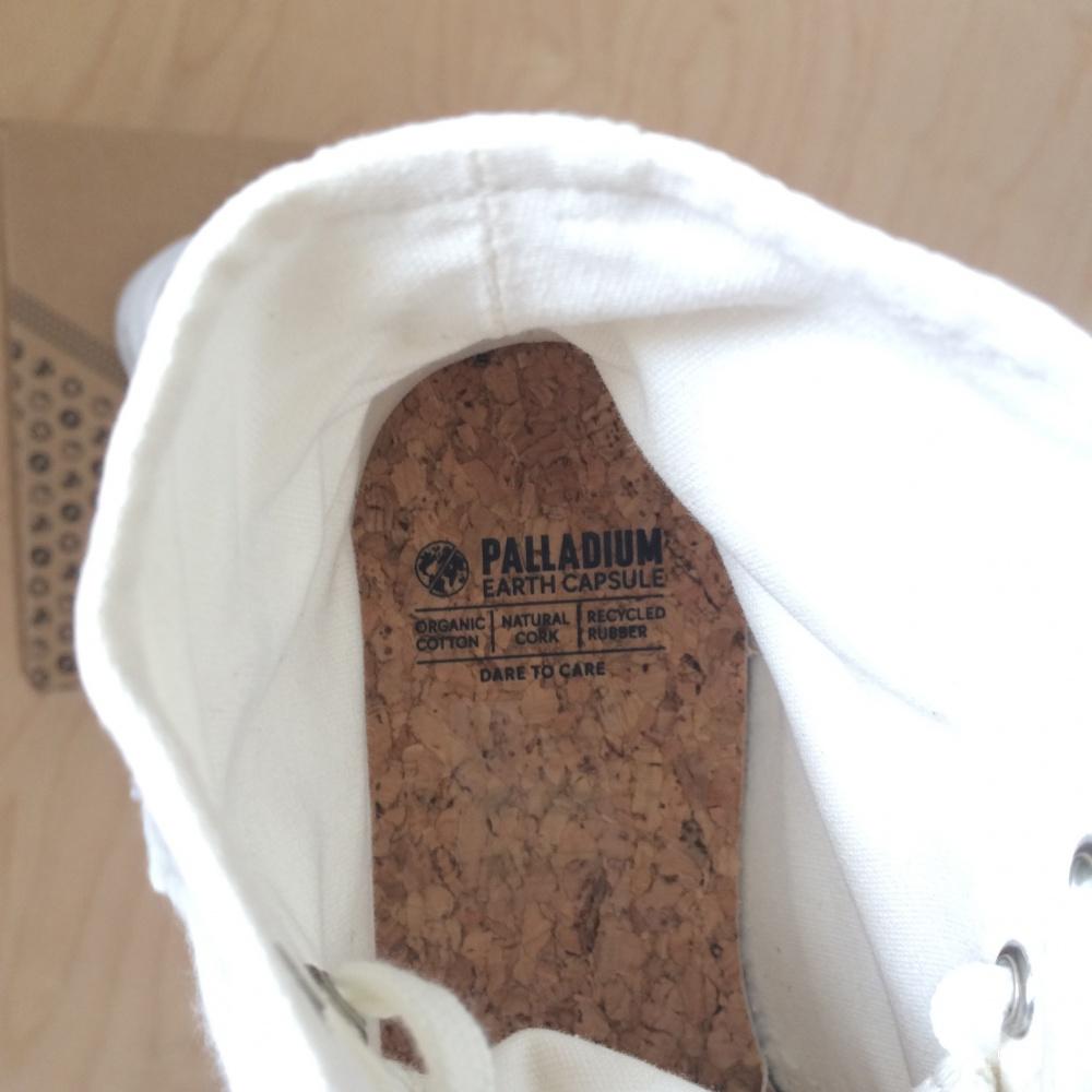 Высокие кеды Palladium Pampa Hi Organic II Star White размер EU37, 23,5 см
