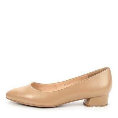 Базовые бежевые туфли из натуральной кожи Thomas Munz 37 р.