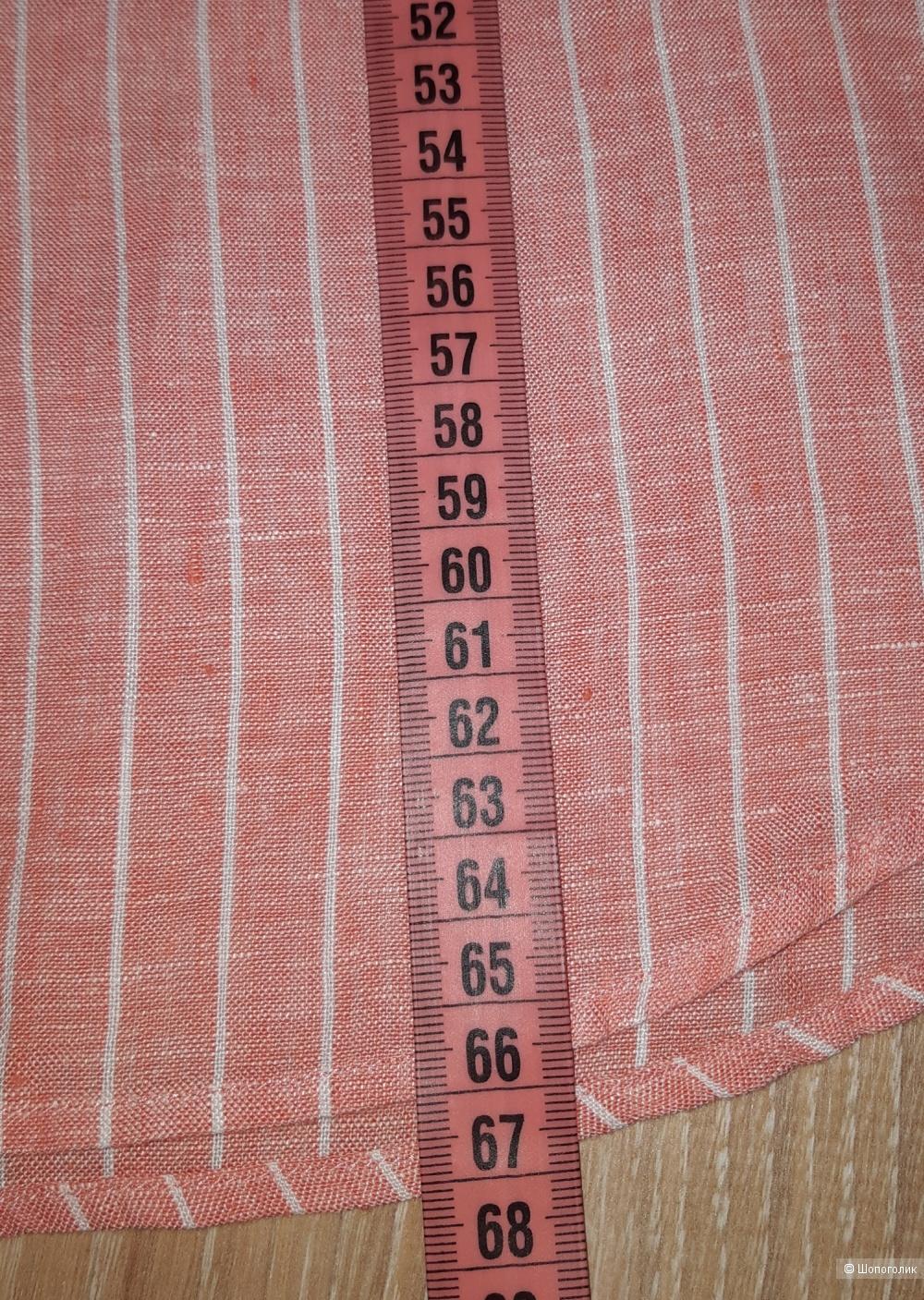 Льняная рубашка uniqlo, размер m/l