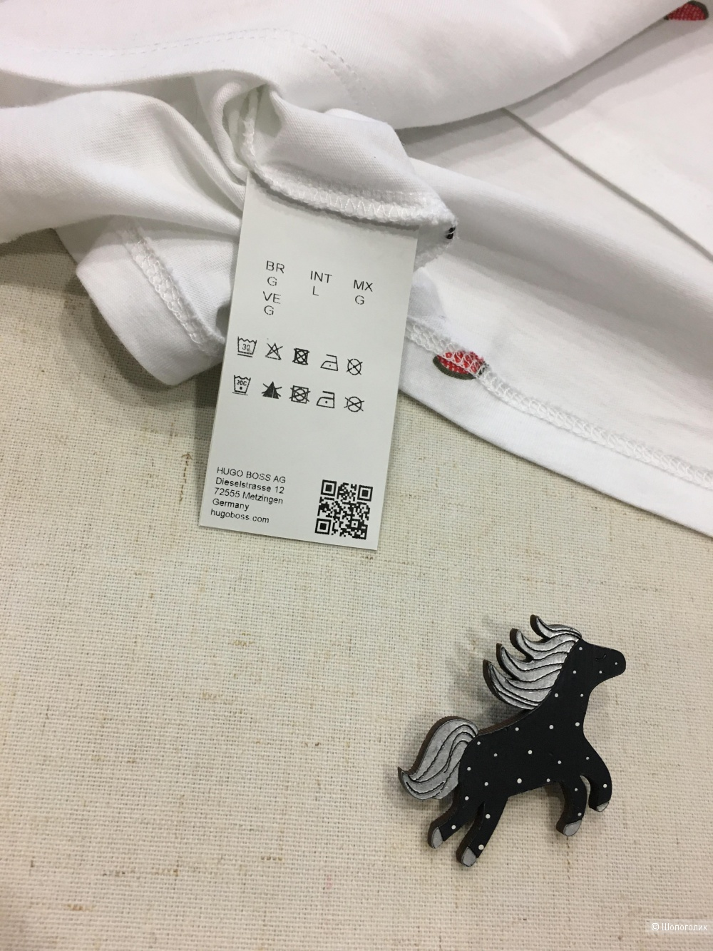 Белая футболка Boss Hugo Boss, размер S/M/L
