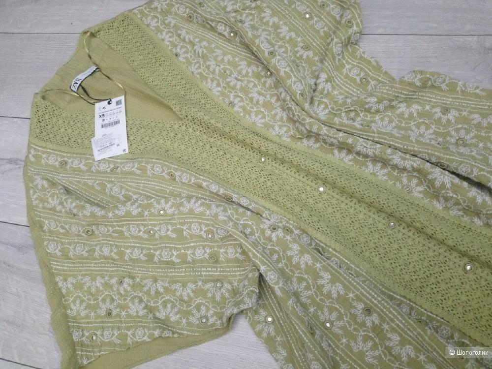 Платье с вышивкой ZARA, размер XS/S/M