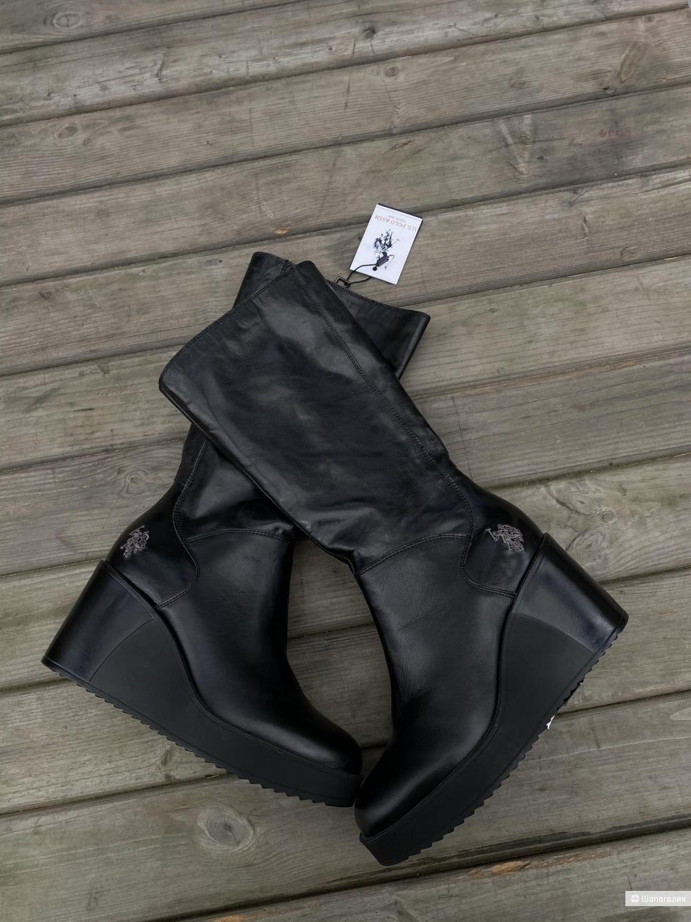 Кожаные сапоги US Polo assn, pp 38
