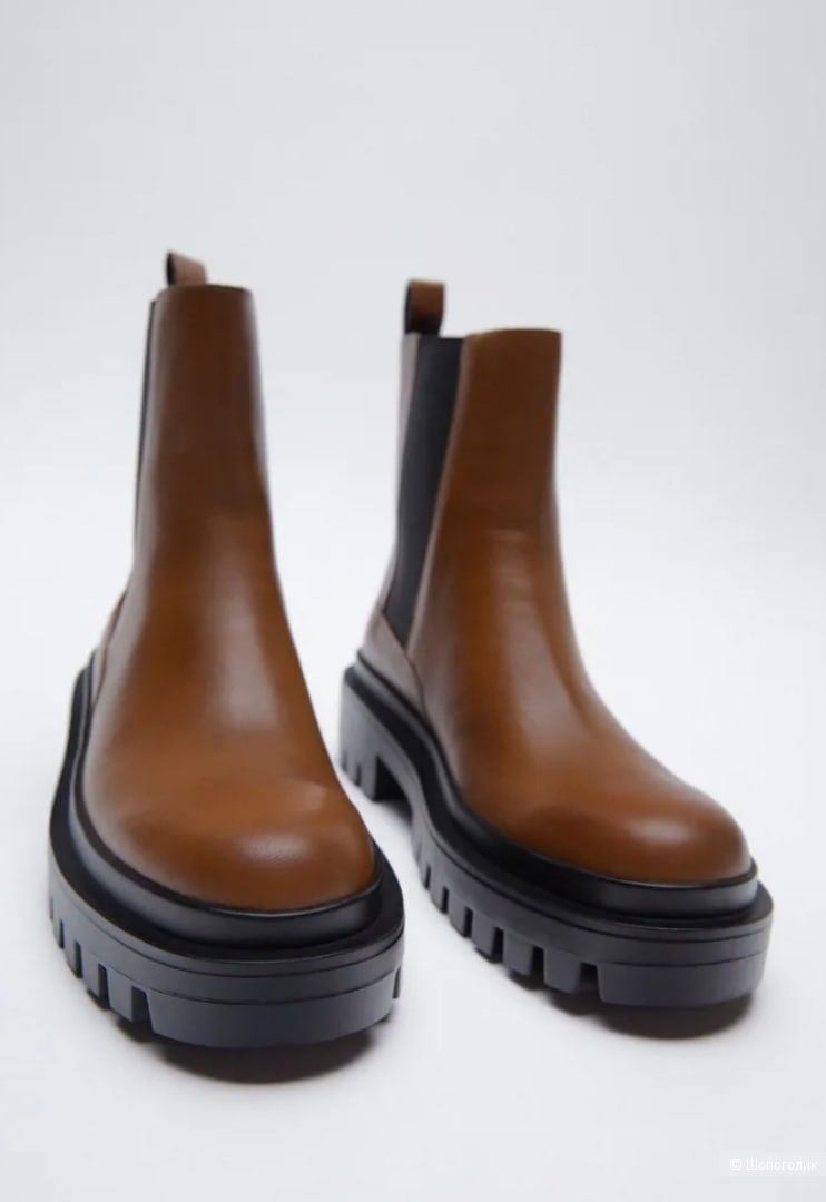 Кожаные ботинки Zara размер 40