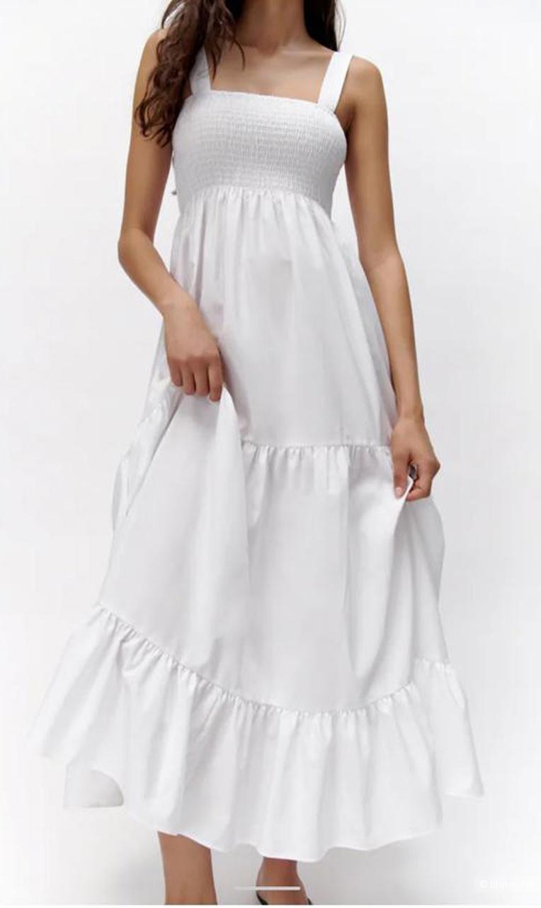 Платье сарафан белое Zara размер 42-44 +