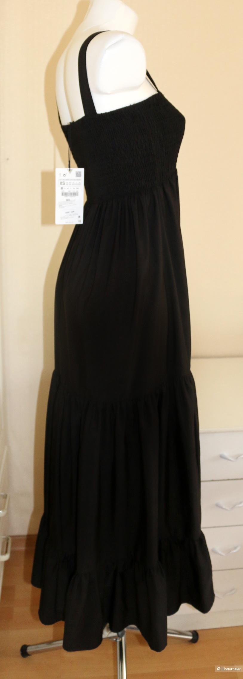 Платье сарафан черное Zara размер 42-44 + XS