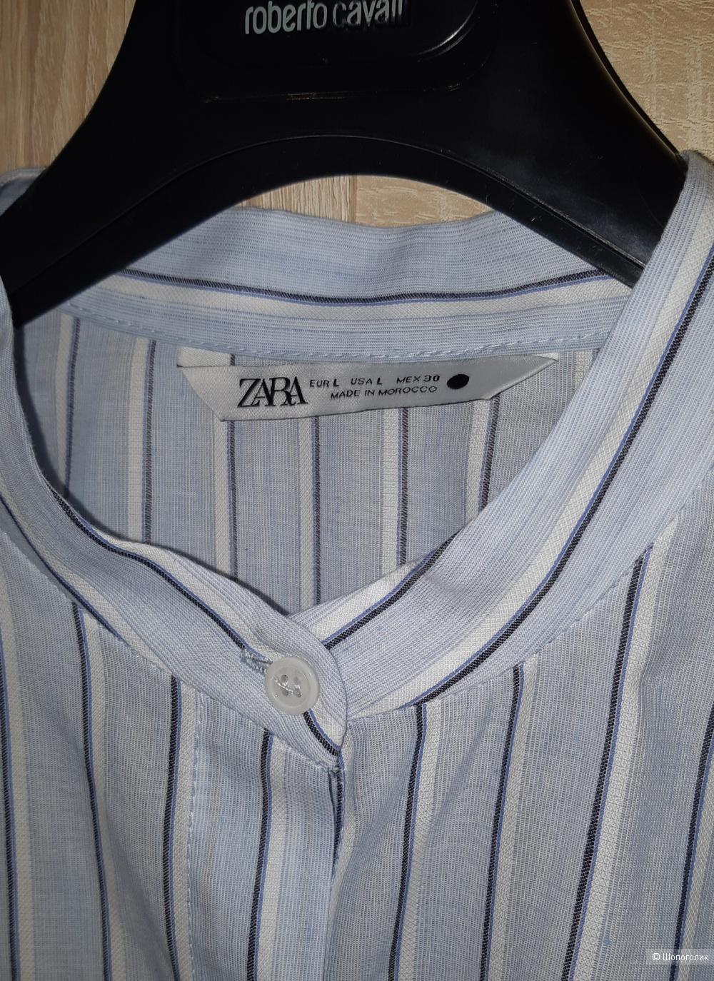 Платье-рубашка zara, размер l