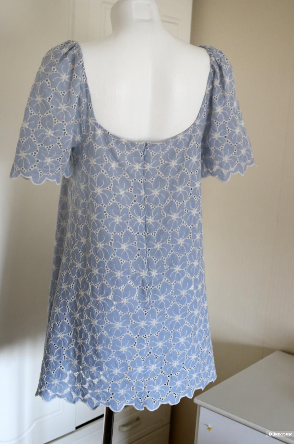 Платьице ажурное  голубое Zara размер М