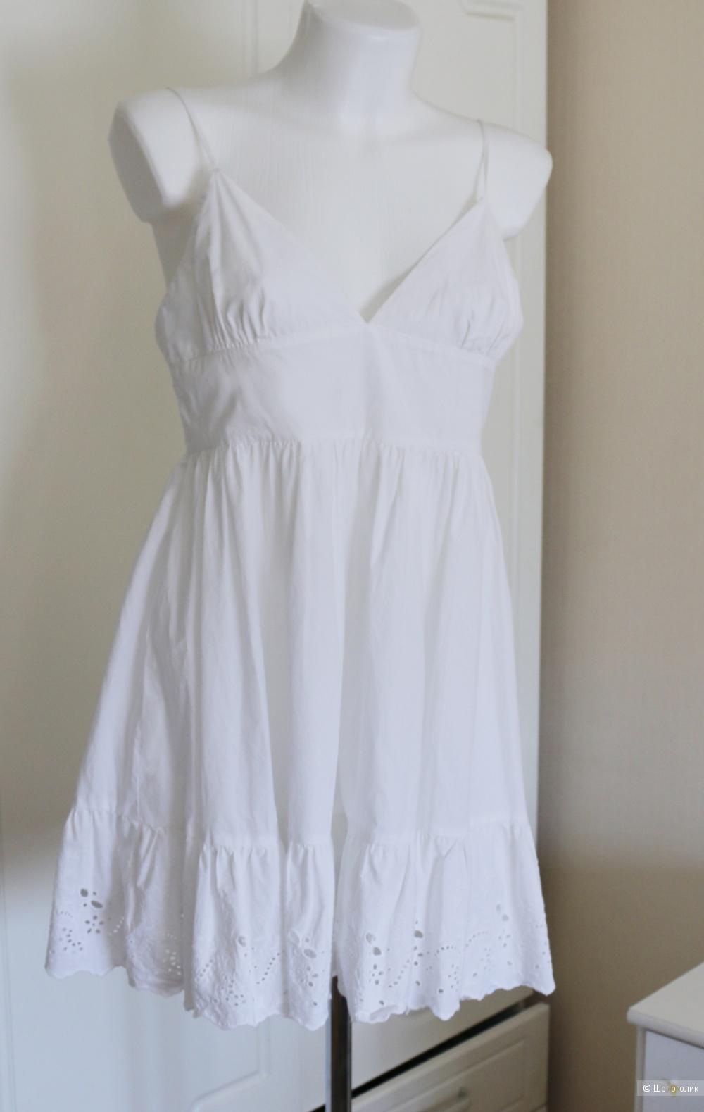 Платье сарафан  белое размер М