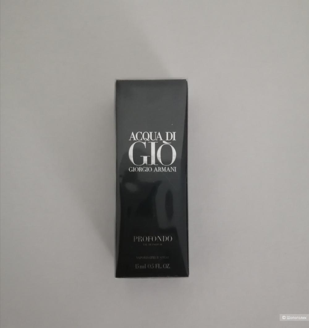 Парфюм для мужчин Giorgio Armani Acqua di Giò Profondo объем 15 мл