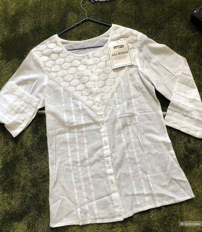 Женская хлопковая блузка р.42