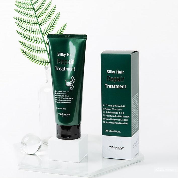 Слабокислотный восстанавливающий бальзам с пептидами Trimay Silky Hair Repair Treatment