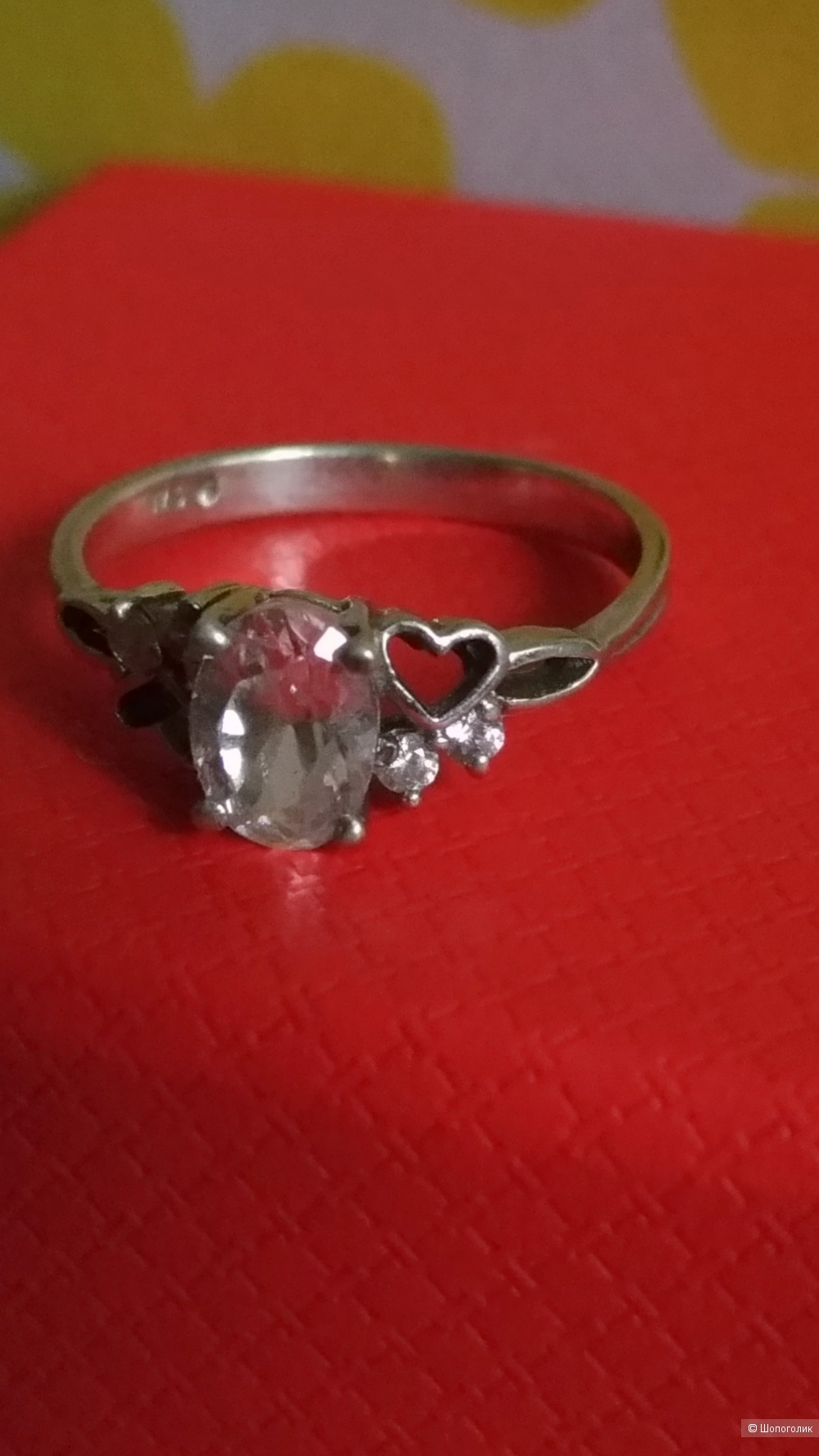 Два серебряных кольца 16 размер