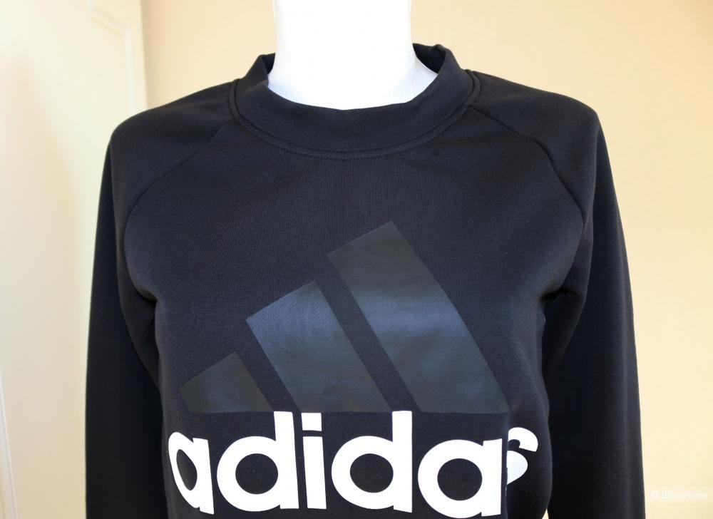 Толстовка  черная Adidas  XS размер 42-44