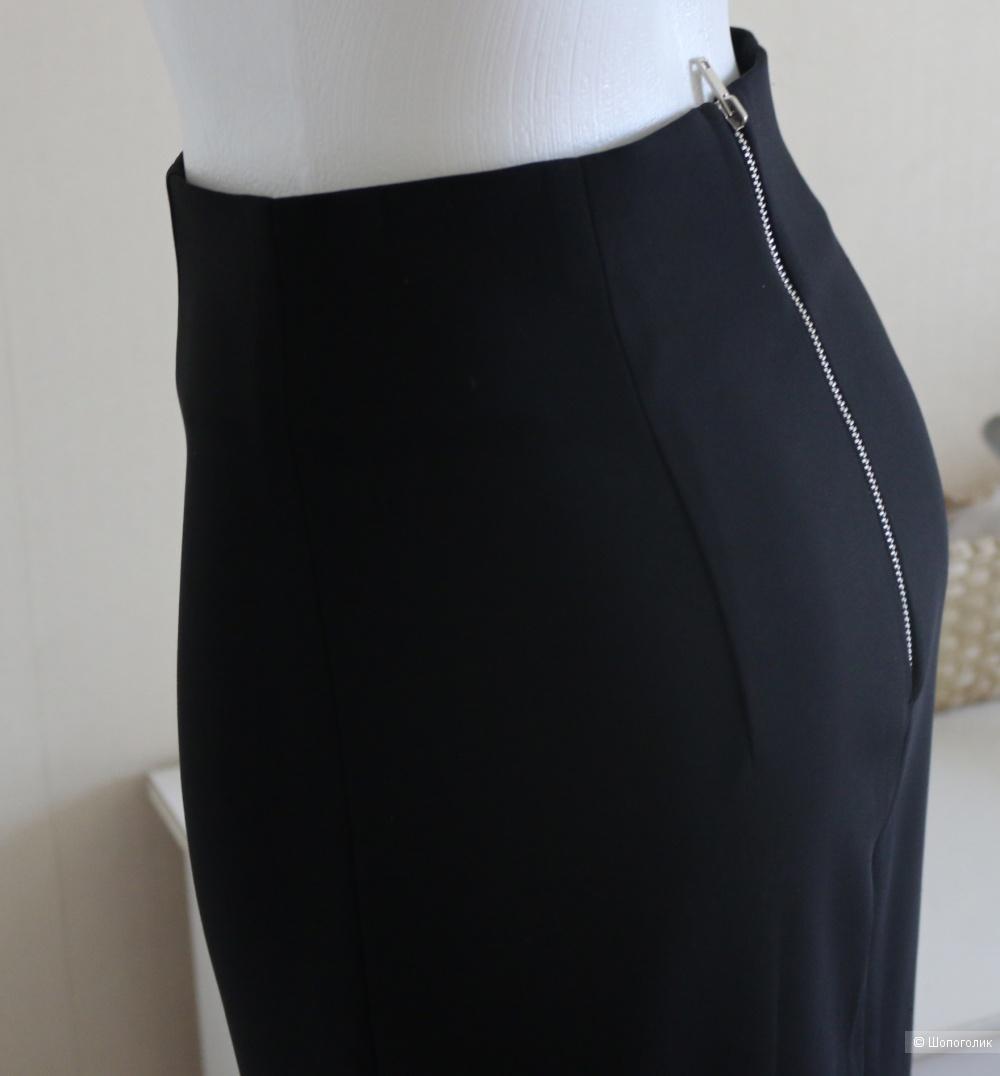 Юбка миди чёрная карандаш Zara XS 42-44