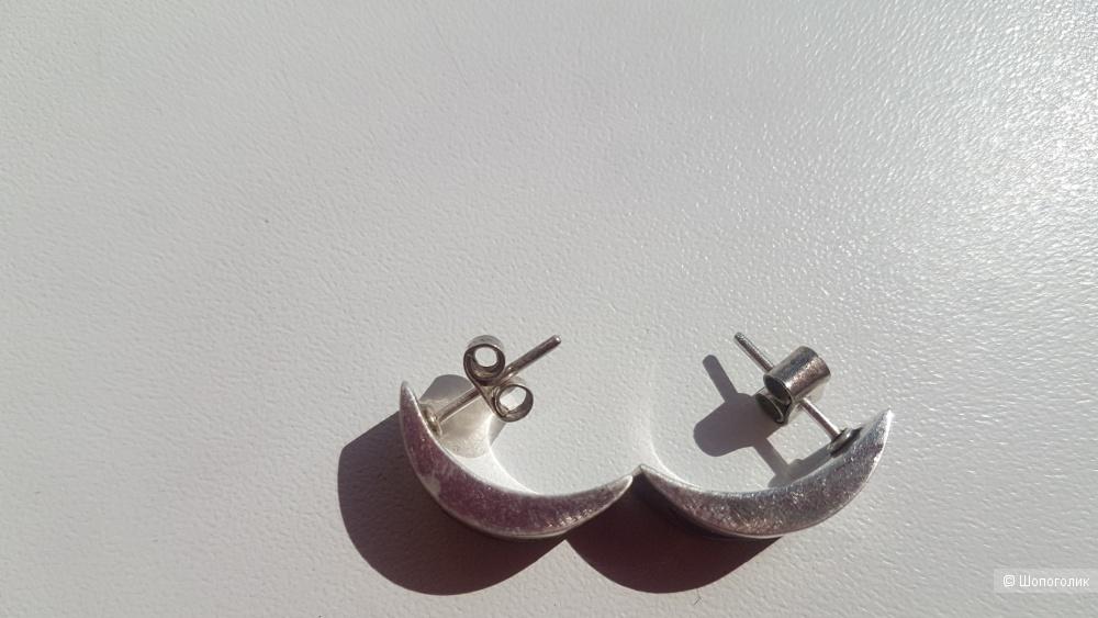 Серебряные серьги , one size