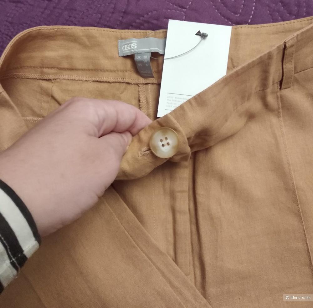 Льняные брюки ASOS DESIGN, р.44-46