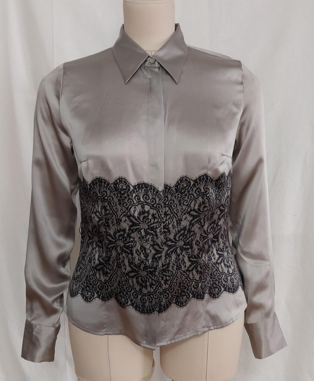 Шелковая рубашка с кружевом Ostin, L