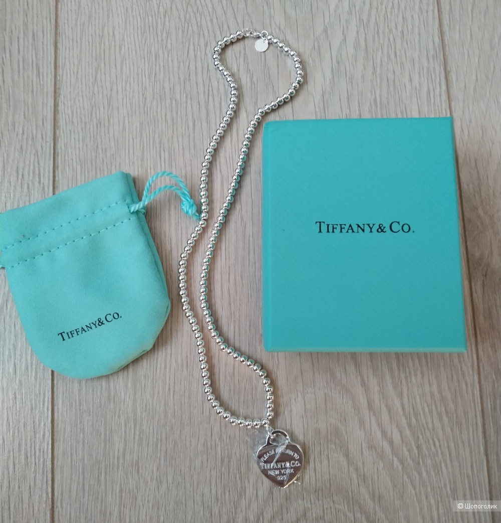 Колье TIFFANY&Co 45 см, серебро.