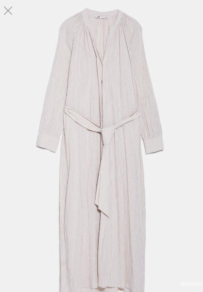 Платье рубашка Zara S 42-44