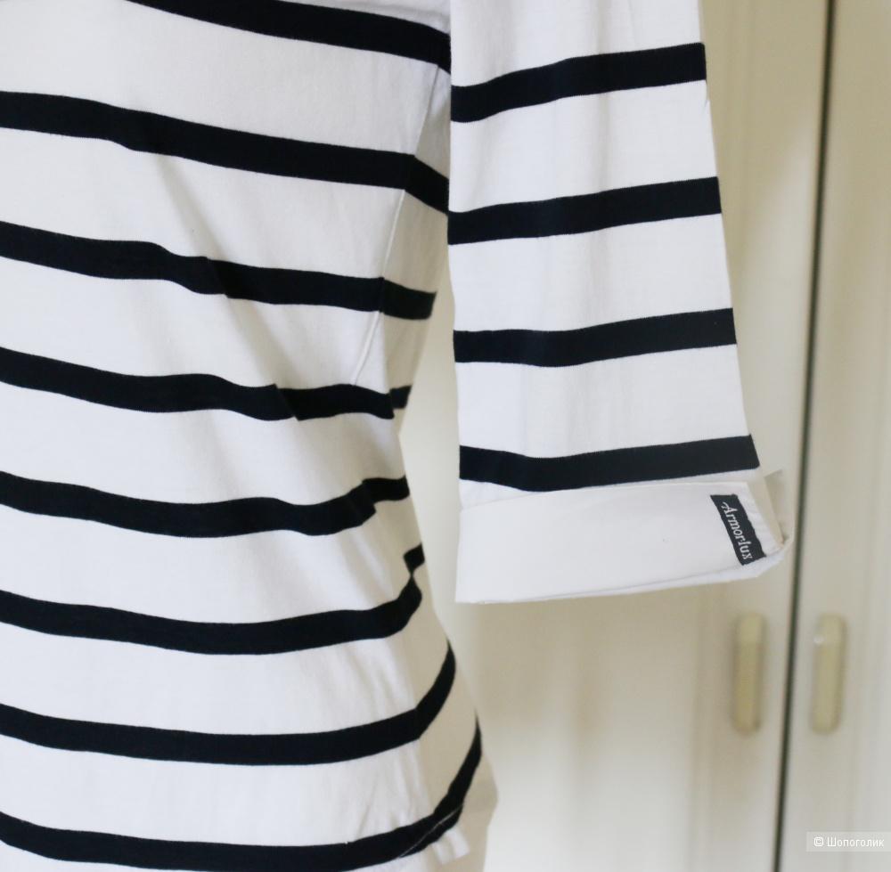 Футболка рубашка  полосатая AMORLUX размер 42-44-46
