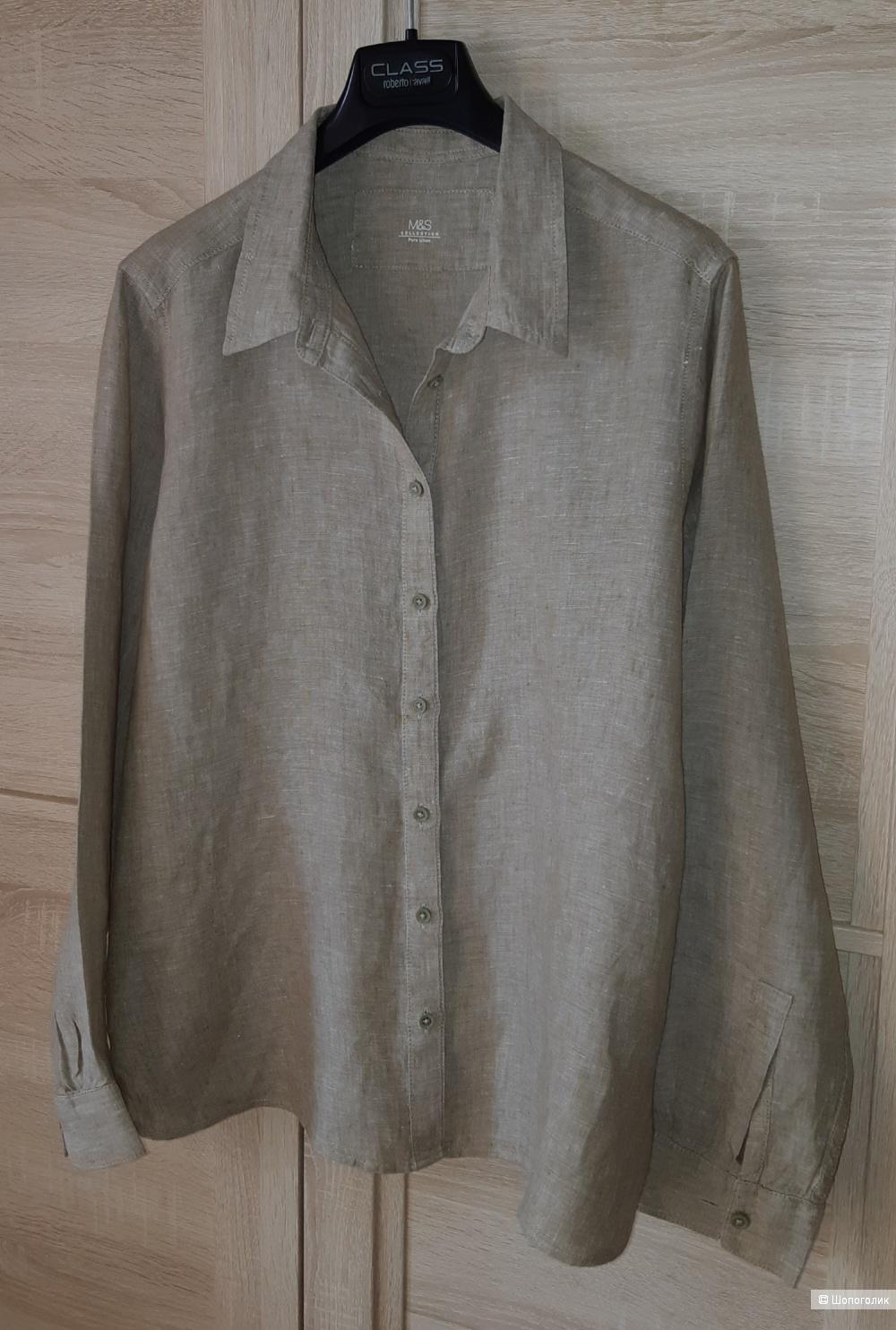 Льняная рубашка marks&spencer, размер m/l