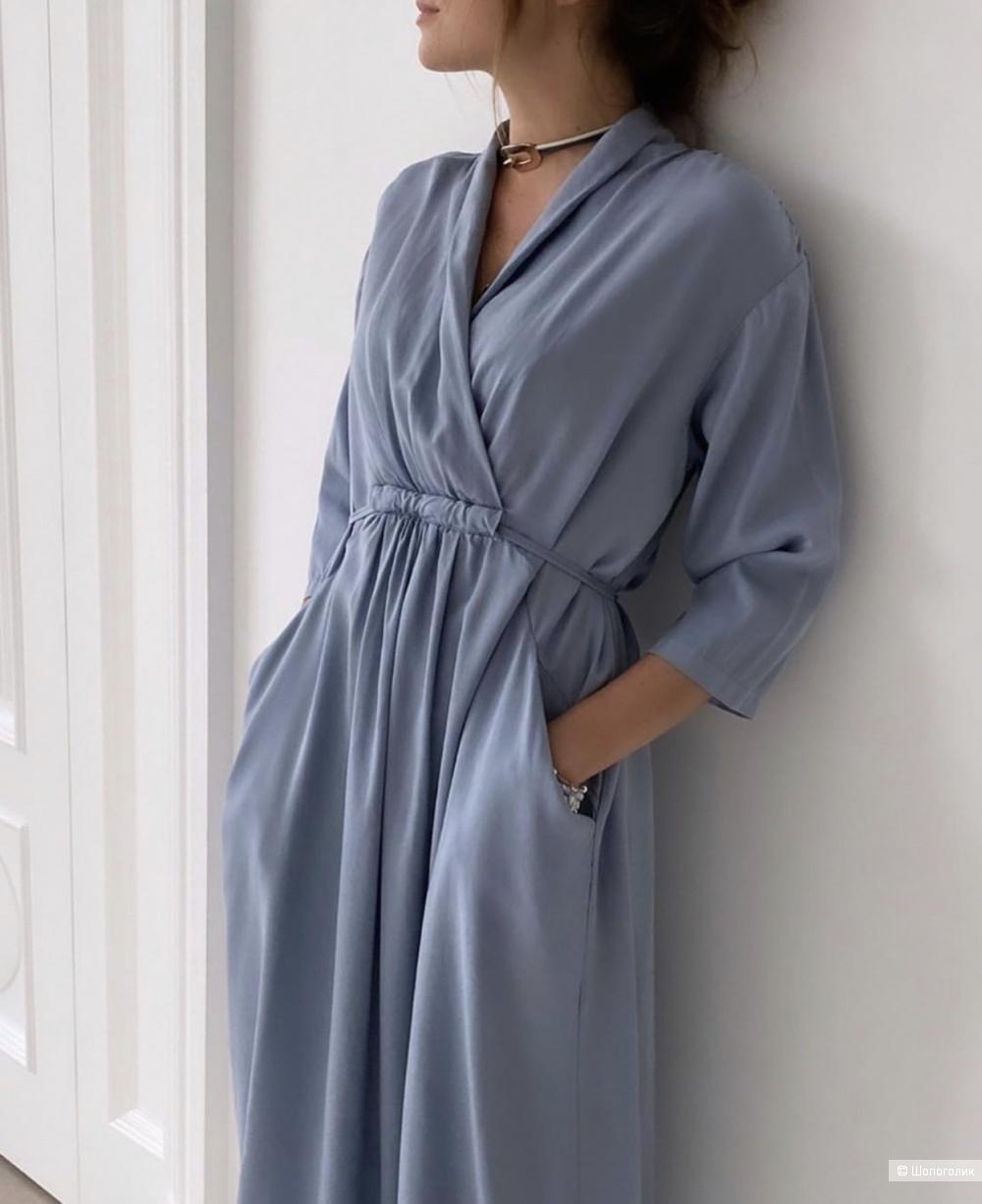 Платье STELLA MILANI с поясом ,44-50