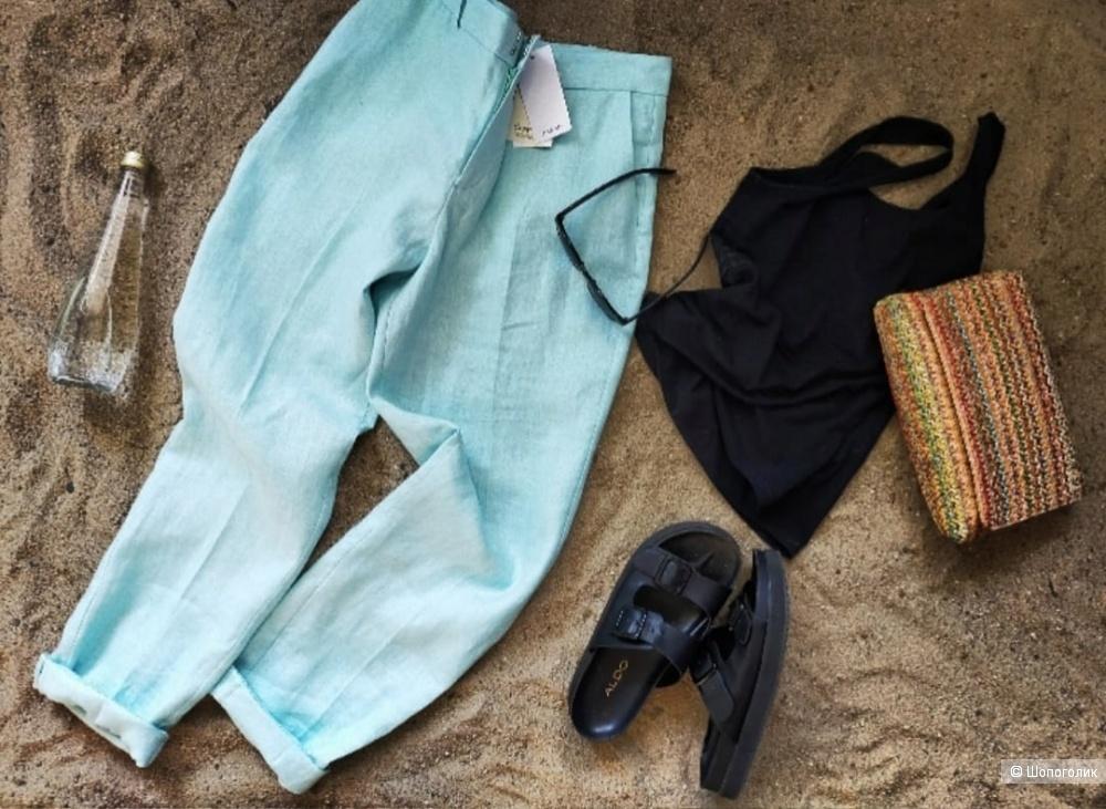Льняные брюки Мango наш 48 размер