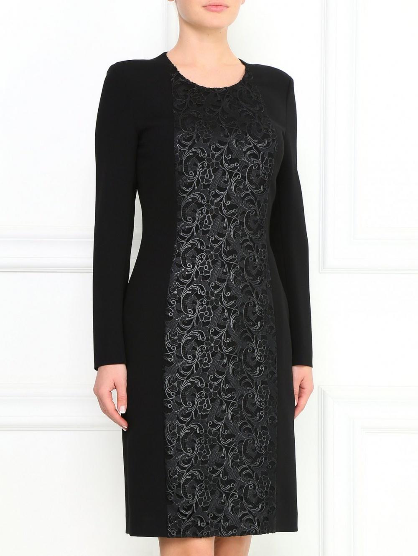 Платье - футляр с кружевом Hugo Boss размер 48 российский