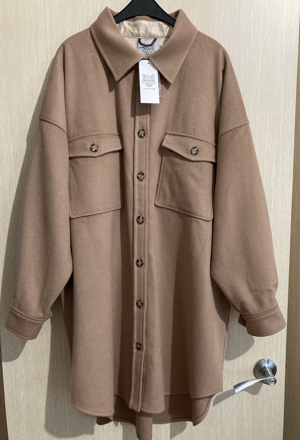 """Пальто """" Wollfstore """", 48-52 размер"""