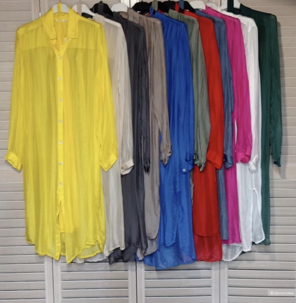 Платье рубашка шёлк Maldives,42-48