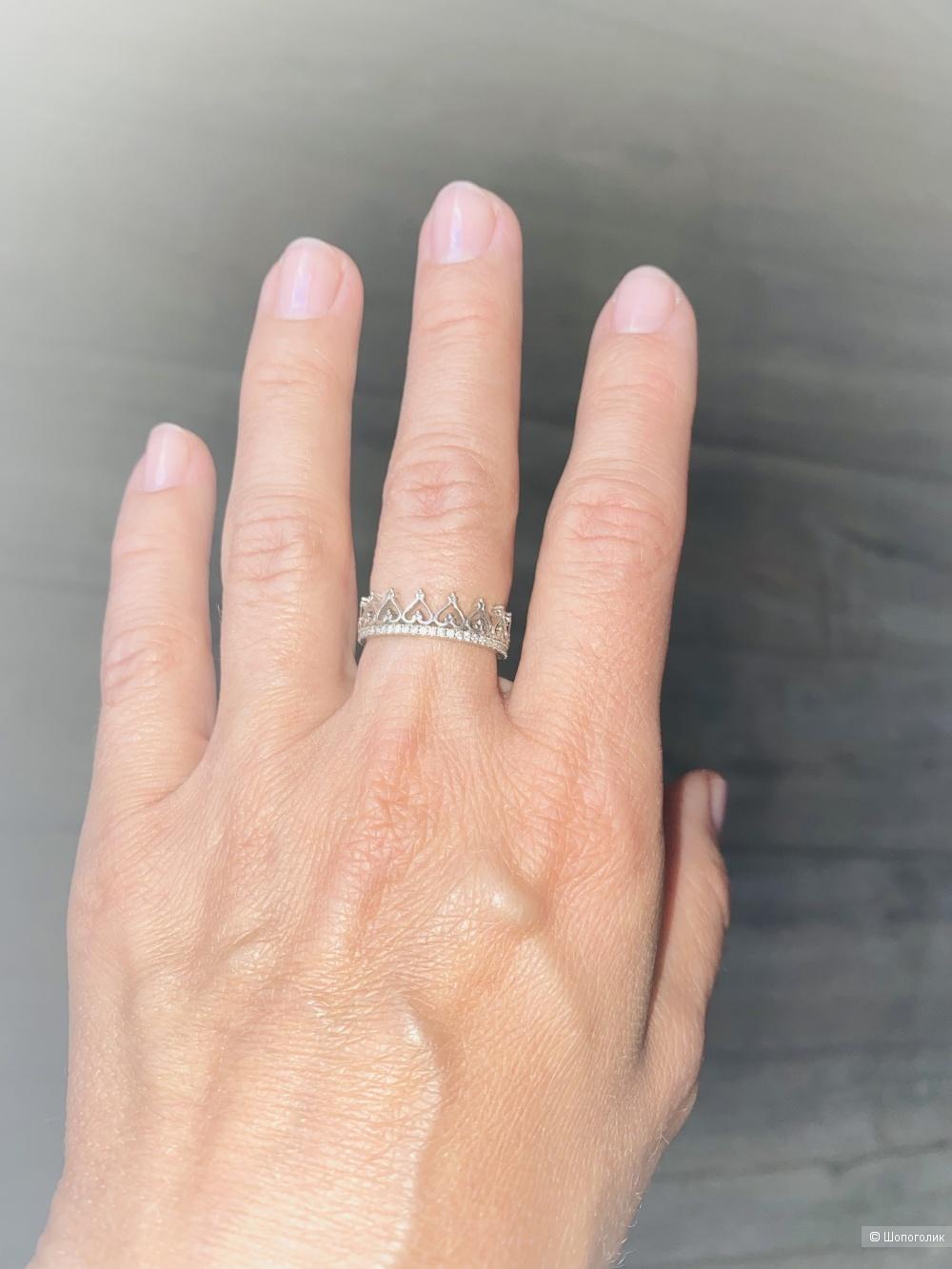 Кольцо, серебро, Sanlight