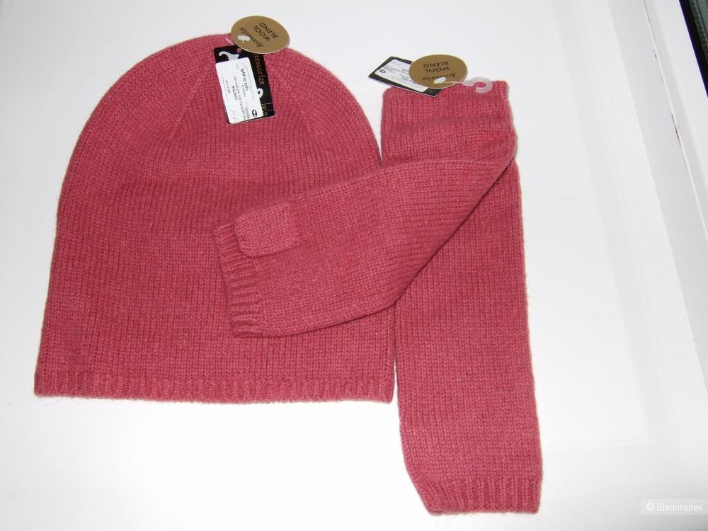 Шапка и перчатки 100% шесть/ангора