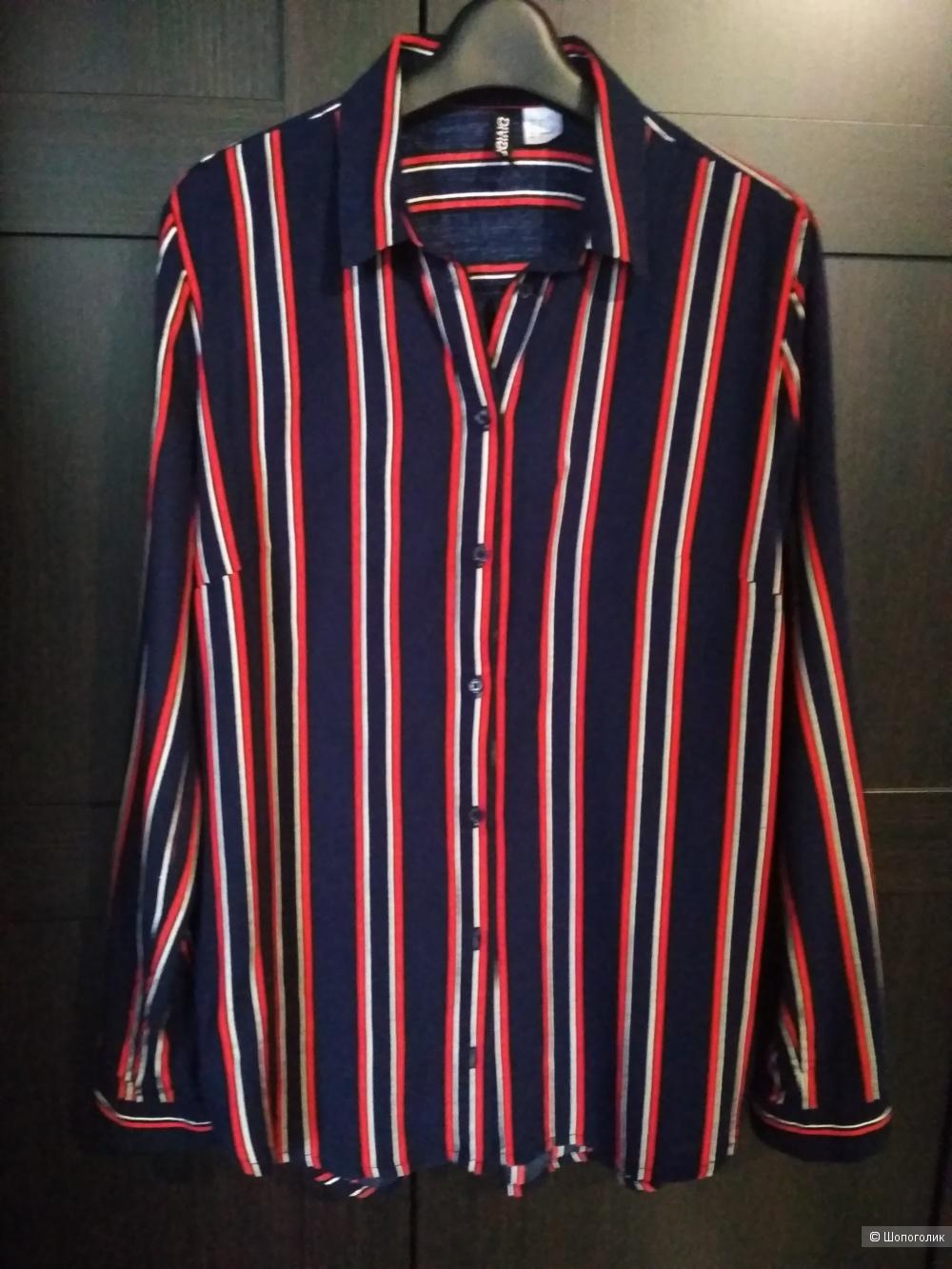 H&M рубашка из вискозы р. 42-44